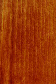"Knotty Pine doors with ""FC 102 Royal Cherry"" finish"
