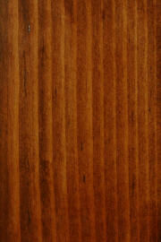 "Knotty Pine doors with ""Old World Mission"" finish"