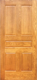 FR-50 Fire Door Red Oak Raised Panel