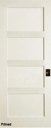 ... Contemporary 4 Panel Interior Door (Primed)