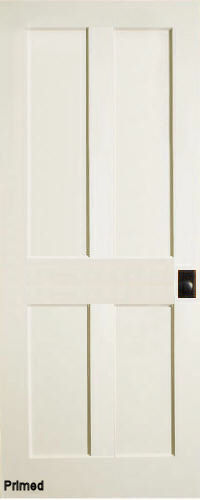 Merveilleux ... Traditional 4 Panel Interior Door (Primed)
