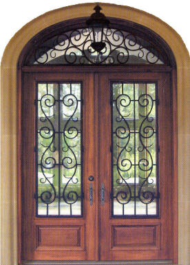 Exterior doors custom and stock homestead interior doors for Wrought iron entry doors