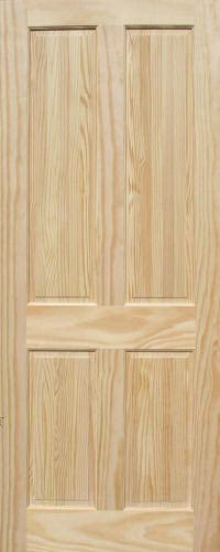 Pine 4 Panel Wood Interior Doors Homestead Doors
