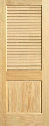 Pine Half Louvered Interior Wood Door