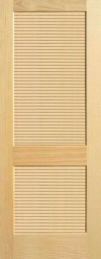 Pine full louvered wood interior doors homestead doors Prehung louvered interior doors
