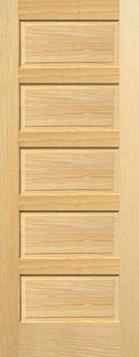 Amazing Pine Horizontal 5 Panel Wood Interior Door