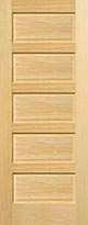 Pine Horizontal 5-Panel Interior Door