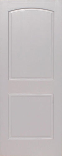 Primed Pine Arch 2-Panel Wood Interior Door