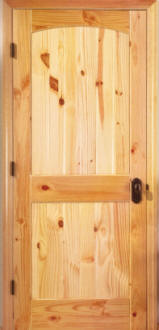 Knotty Pine arched 2 panel door