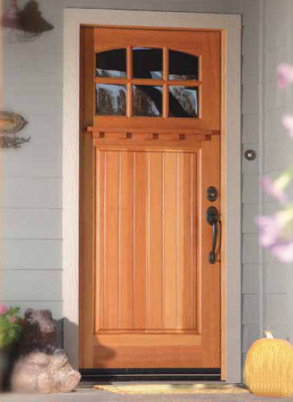 Douglas fir doors for New front door for house