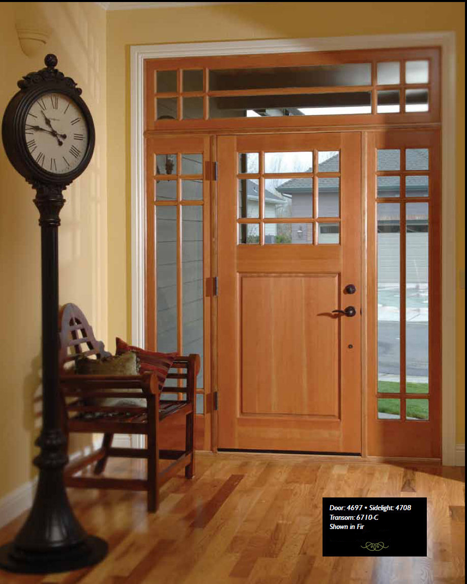 Fir Exterior Door with Sidelites and Transom & Douglas Fir Doors