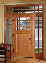 Fir Exterior Door with Sidelites and Transom