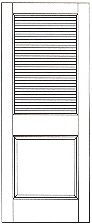 KnottyPineDoor_#732 Louvered interior door