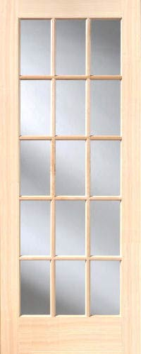 Poplar 15 lite french interior doors homestead doors for 15 french door