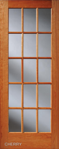 Cherry 15-Lite French Interior Door : homestead doors - pezcame.com