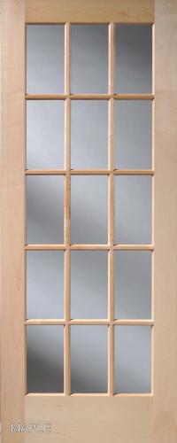 Maple 15 lite french interior doors homestead doors for 15 lite interior door