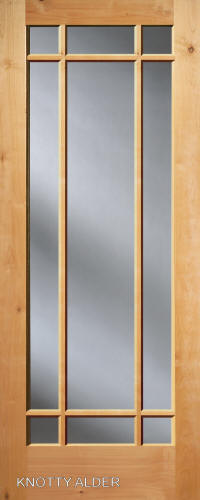 ... French 9 Lite Knotty Alder Interior Door ...