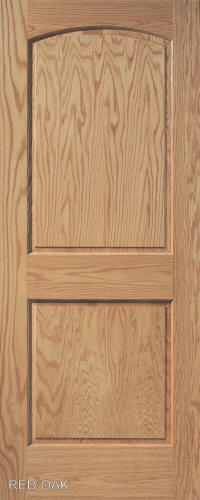 Red Oak Arch 2-Panel Wood Interior Door