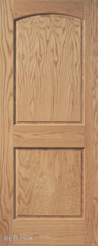Red Oak Arch 2 Panel Wood Interior Doors Homestead Doors