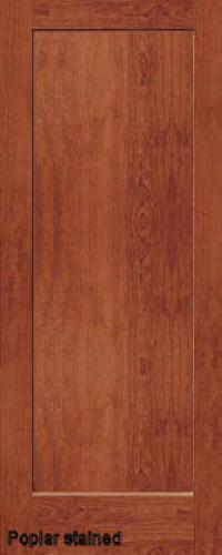 ... Stained Poplar Traditional 1 Panel Interior Door