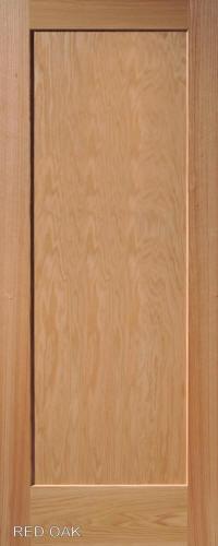 ... Red Oak Traditional One Panel Interior Door ...