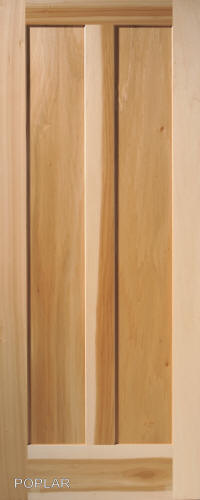 vertical 2panel interior door in poplar wood