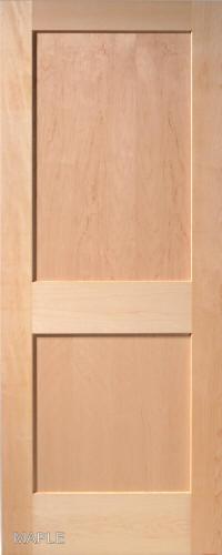 ... Maple Traditional 2 Panel Interior Door ...