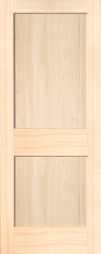 Poplar Mission 2 Panel Wood Interior Doors Homestead Doors