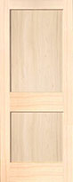 Poplar 2-Panel Interior Door