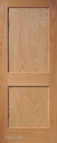 Red Oak Mission 2 Panel Wood Interior Doors Homestead Doors