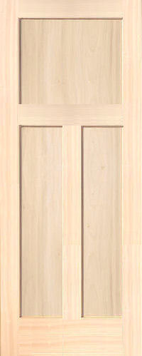 Poplar Mission 3 Panel Wood Interior Doors
