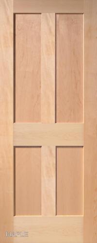 Maple Traditional 4 Panel Interior Door ...