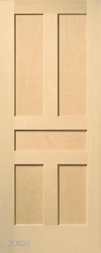 ... Birch Traditional 5 Panel Interior Door