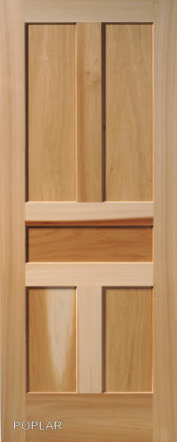 Poplar Traditional 5 Panel Interior Door ...