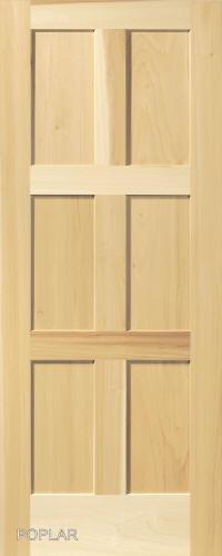 Charmant Contemporary 6 Panel Interior Door (in Poplar Wood)