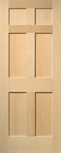 Craftsman doors and mission doors solid core veneered 6 panel hardwood interior doors