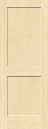 Birch Mission 2 Panel Wood Interior Doors Homestead Doors