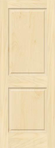 2 Panel Birch Doors With Raised Panels Homestead Doors