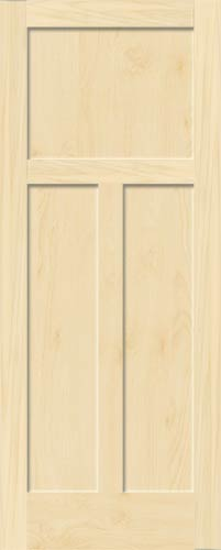 Birch Mission 3 Panel Wood Interior Doors Homestead Doors
