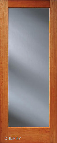 Cherry full view french interior doors homestead doors for Full glass french doors