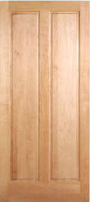 natural hard maple door vertical 2-panel