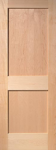 Maple Flat 2-Panel Wood Interior Door