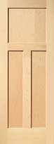 Maple 3-Panel Interior Door
