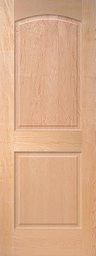 Maple Arch 2 Panel Wood Interior Doors