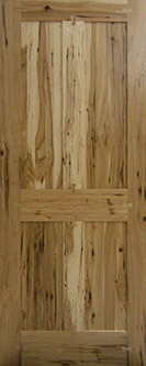 Hickory 4-Panel Interior Door