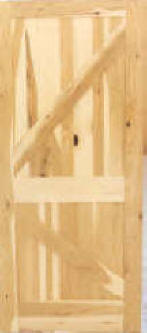A Series Rustic Hickory. Hickory 4 Panel Interior Door