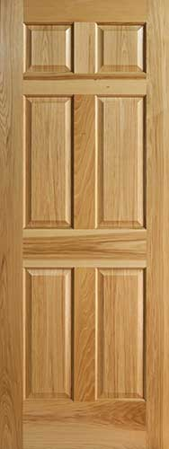 Hickory 6 Panel Interior Doors With Raised Panels
