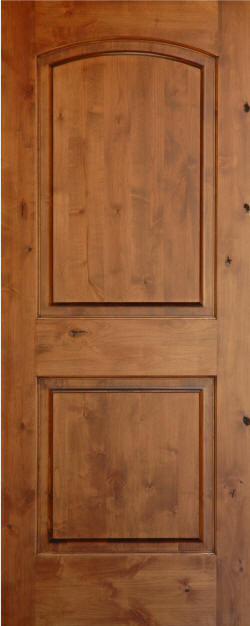 Knotty Alder Arch 2 Panel Wood Interior Doors Homestead Doors