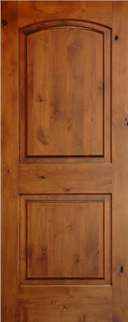 Knotty Alder Arch Top 2 Panel Wood Doors Homestead Interior Doors