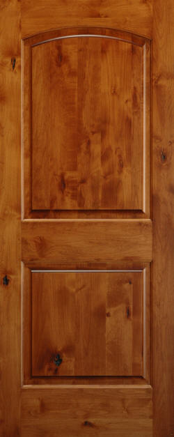 Knotty Alder Arch-Top 2-Panel Wood Doors - Homestead ...